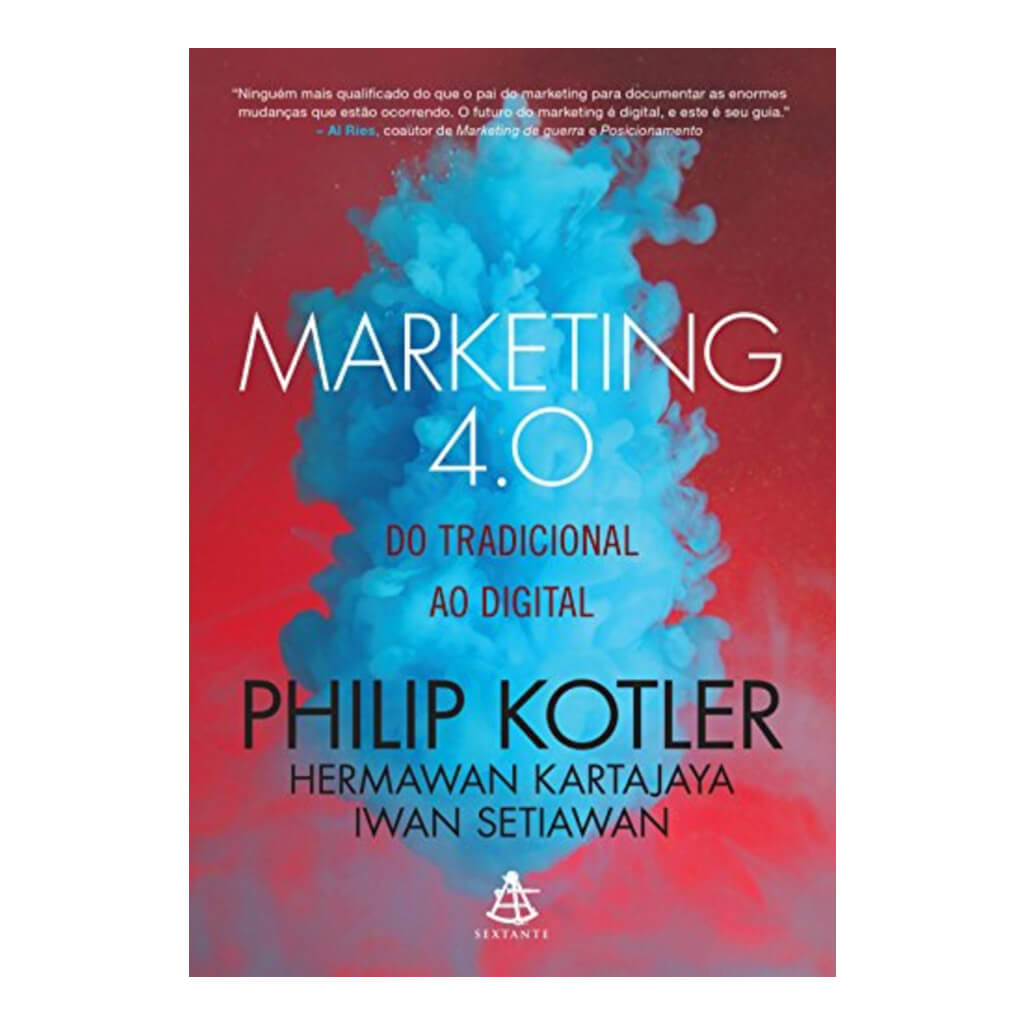 Capa do livro de marketing 'Marketing 4.0: do tradicional ao digital' de Philip Kotler.