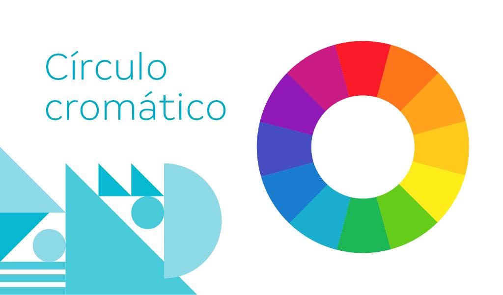 A imagem apresenta o círculo cromático com 12 cores